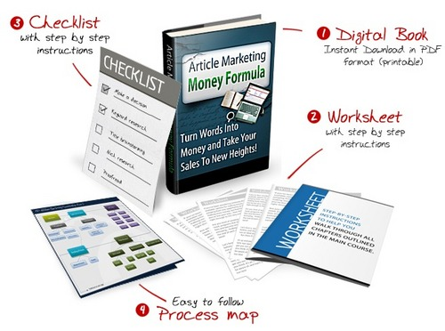 Product picture Article Marketing Money Formula